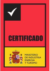 certificado por el Ministerio de Industria