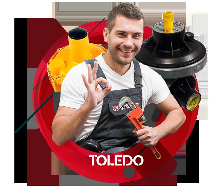 Reparación y sustitución de reguladores de gas natural en Toledo