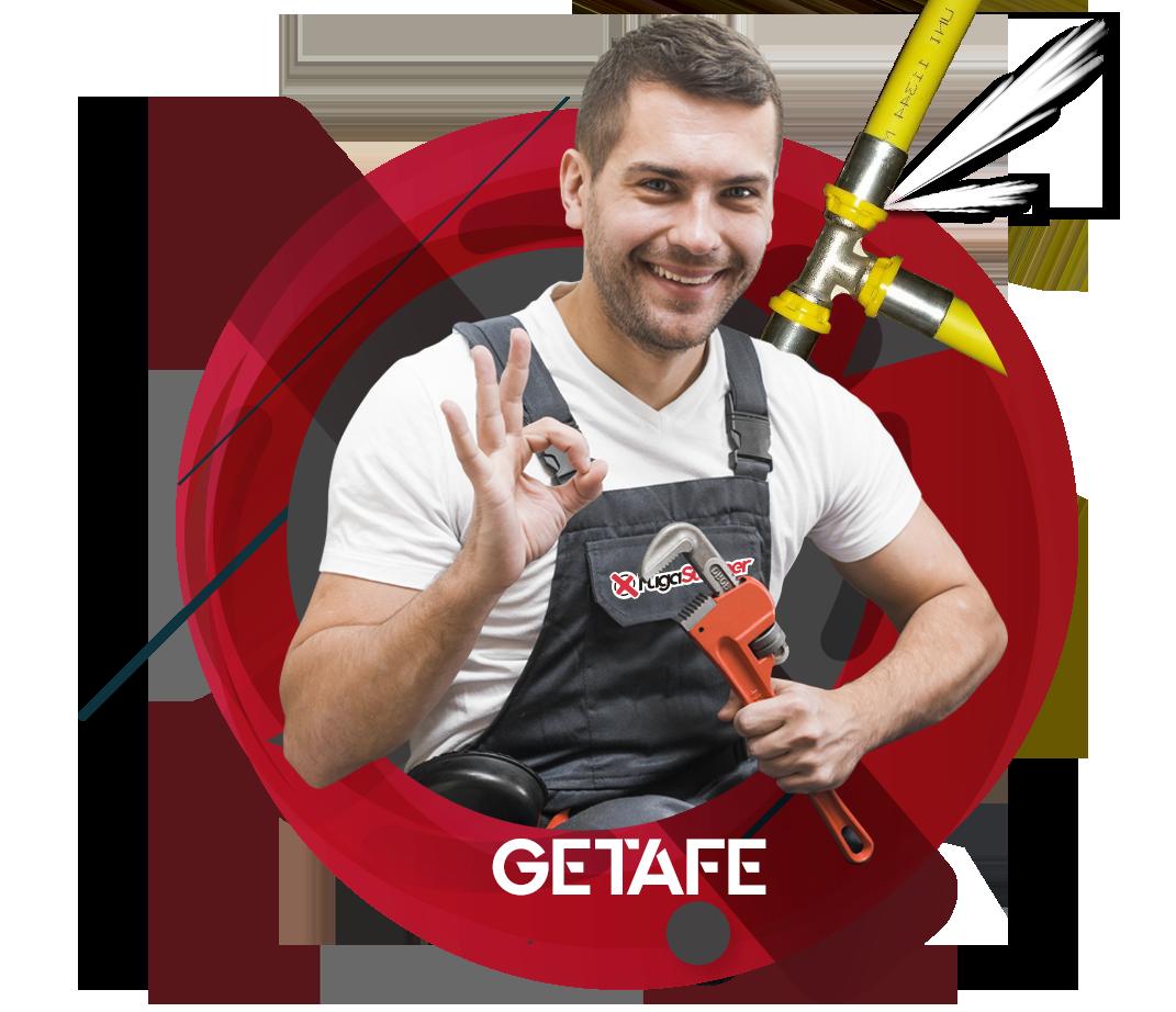 reparación fugas de gas natural en Getafe