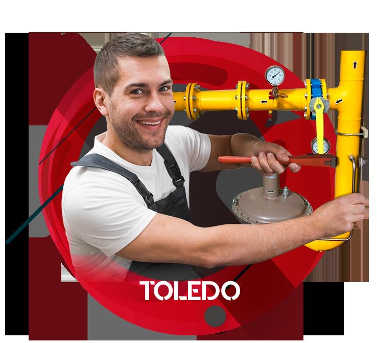reparación instalación de gas natural en Toledo